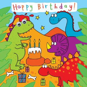 Childrens Birthday Card - Dinosaur Party